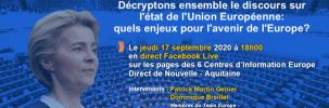 Décryptons le discours sur l'état de l'Union européenne 17 septembre – 18h
