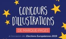 Concours d'illustrations de marques pages dédiés aux élections européennes 2019