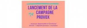 Le Collectif 100% Jeune participe au lancement de la campagne Provox