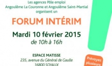 affiche evenement forum interim soyaux