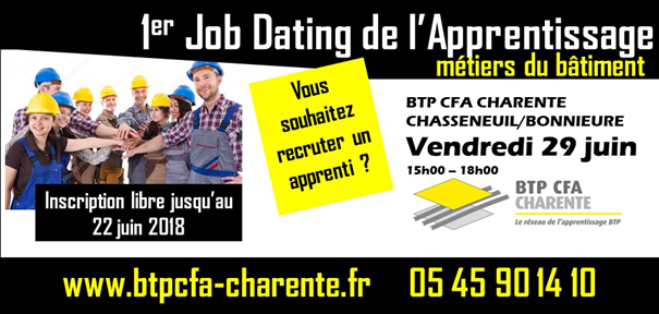 job dating de l u2019apprentissage au btp cfa charente