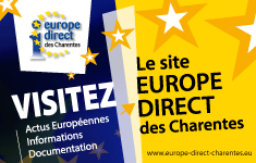 Encart publicitaire du site europe direct charente
